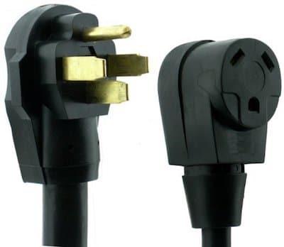 50 amp male to 30 amp female RV adaptor