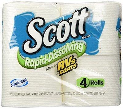 Rapid Dissolve RV Toilet Paper