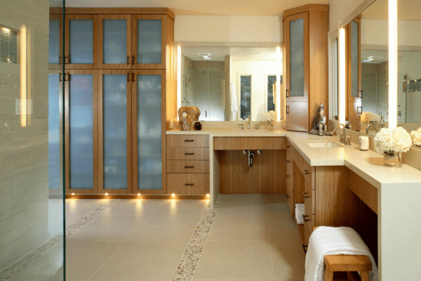 Considerations for designing accessible bathrooms for seniors.