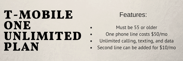 T-Mobile One Unlimited Plan is a good deal for older adults