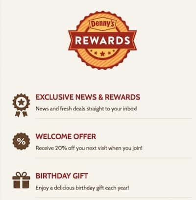 Denny's Senior Discounts