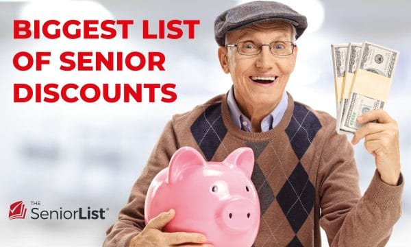 Check out the biggest list of senior discounts here on The Senior List.