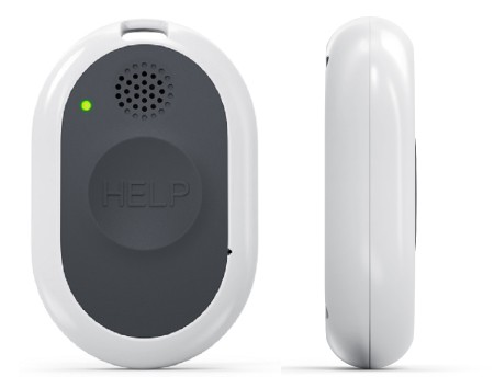 The new cellular medical alert system from Bay Alarm medical is water resistant and has fall detection capabilities.