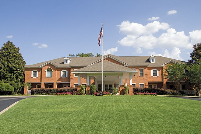 Assisted living in Birmingham, Alabama . Galleria Woods entrance.