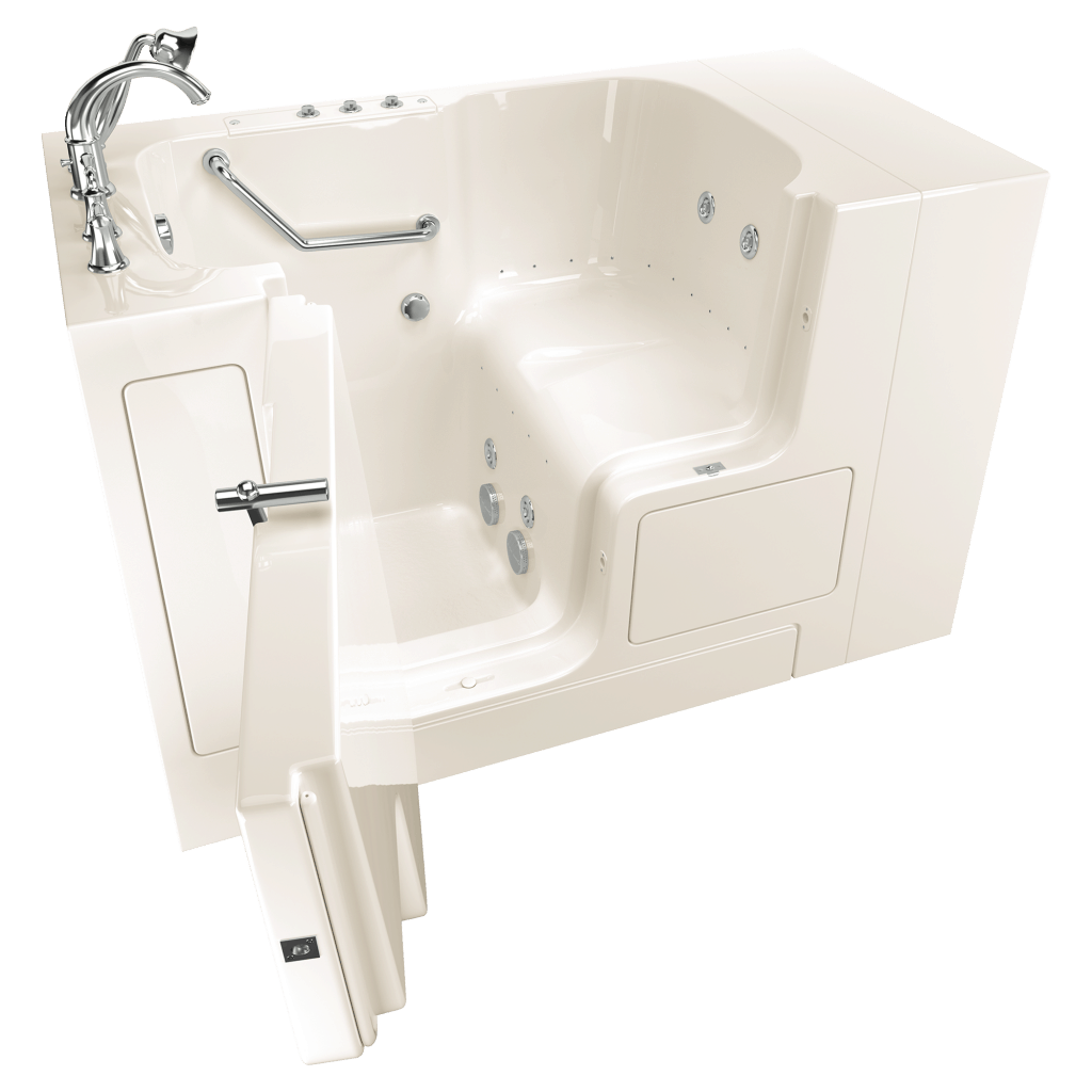 American Standard walk-in tubs have features to easy sore joints and aching muscles.