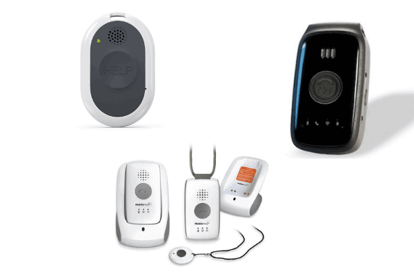 These are examples of cellular medical alert systems that can be taken anywhere with a cellular signal.