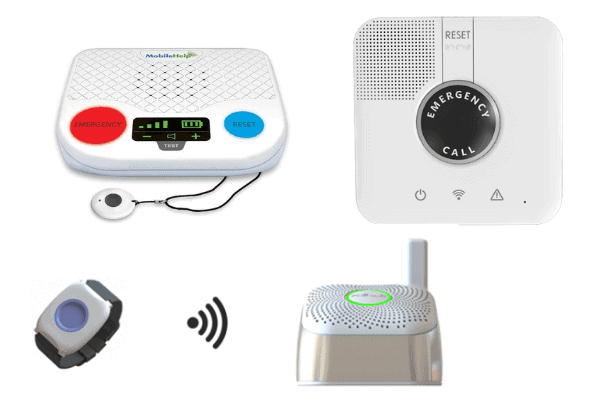 Examples of in-home cellular medical alert systems from a variety of top rated companies.