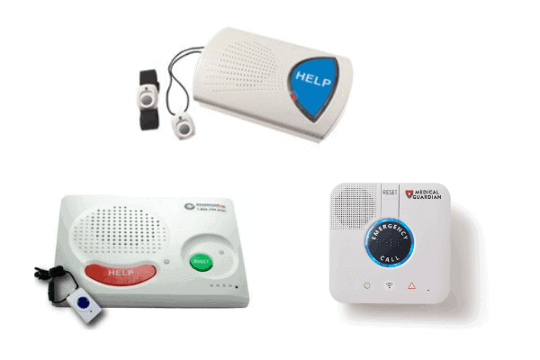 Examples of in-home medical alert systems from a variety of top rated companies.