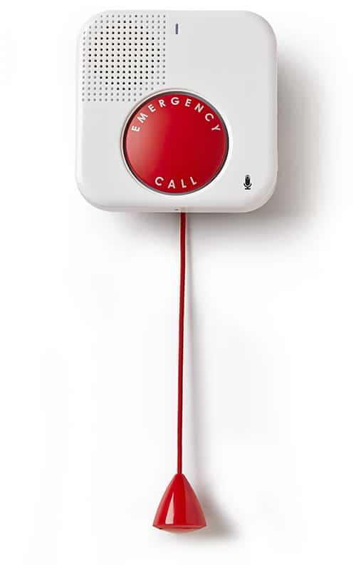 The GetSafe wall buttons are a nice addition to their in-home medical alert package.