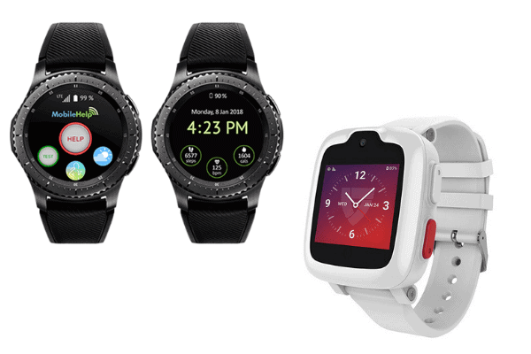 These are examples of medical alert smartwatches that don't require a smartphone.