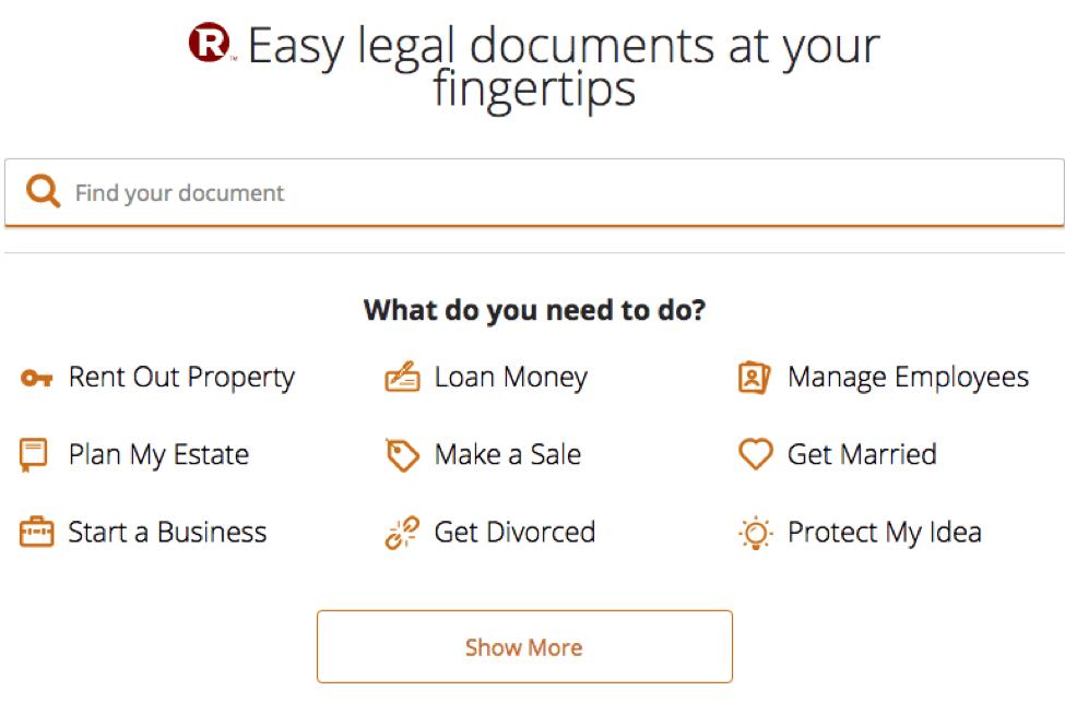 Rocket Lawyer Documents