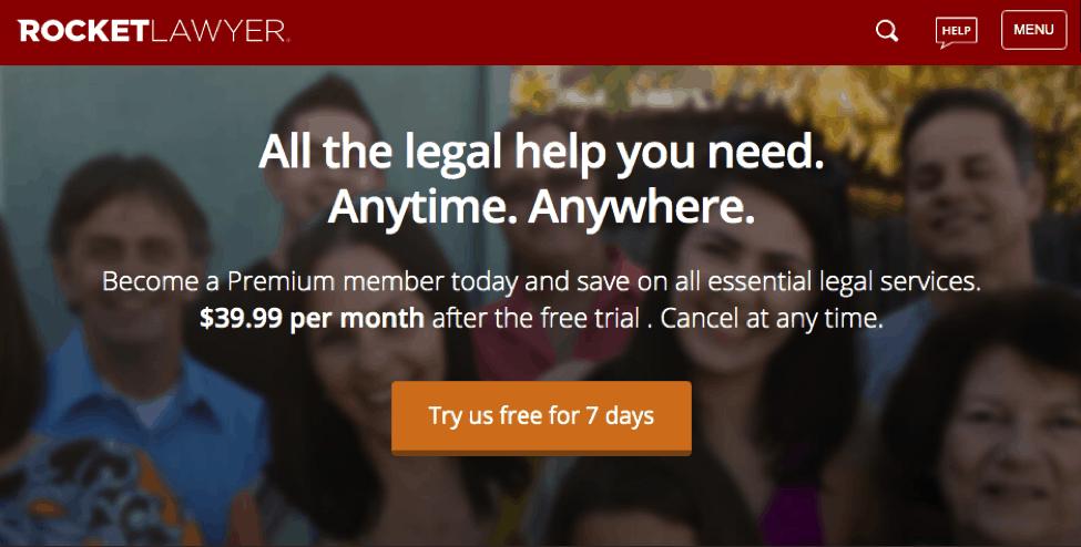 Rocket Lawyer Free Trial
