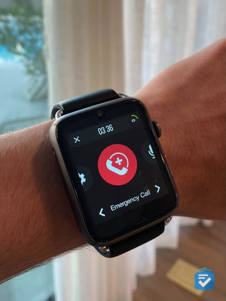 Emergency Call on the WellBe Smartwatch