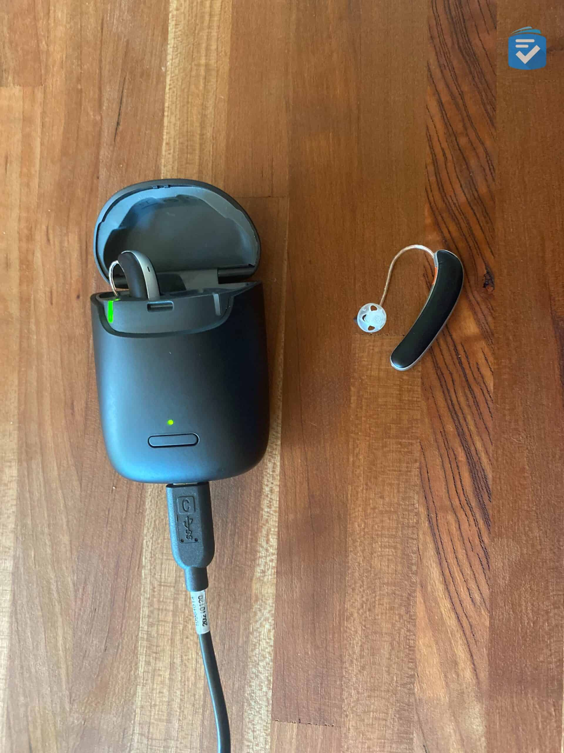 Hear.com Hearing Aid and Charger